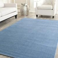 Safavieh Handmade Himalaya Solid Blue Wool Rug