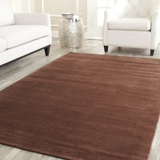 Safavieh Handmade Himalaya Solid Brown Wool Rug