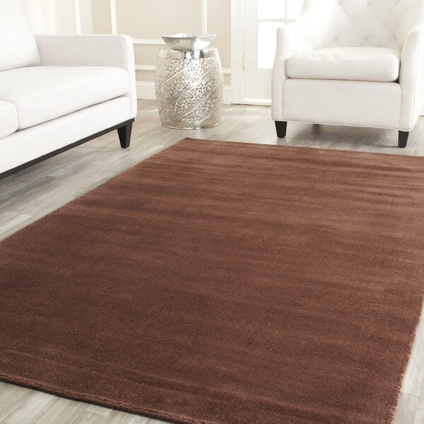 Safavieh Handmade Himalaya Solid Brown Wool Rug