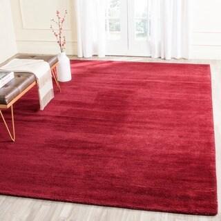 Safavieh Handmade Himalaya Solid Red Wool Rug