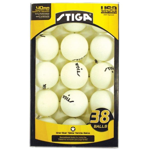 Stiga One-Star 38 Pack White Balls