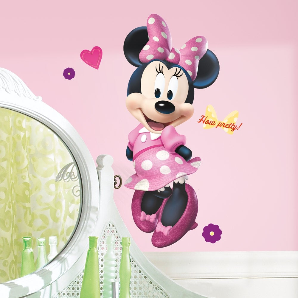 RoomMates Mickey & Friends Minnie Bow-tique Peel & Stick ...
