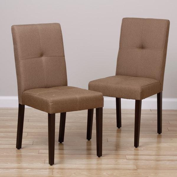 Ginger Wenge Finish Side Chairs (Set of 2)