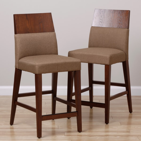 Shop Rosalyn 25 Inch Tobacco Finish Barstools Set Of 2