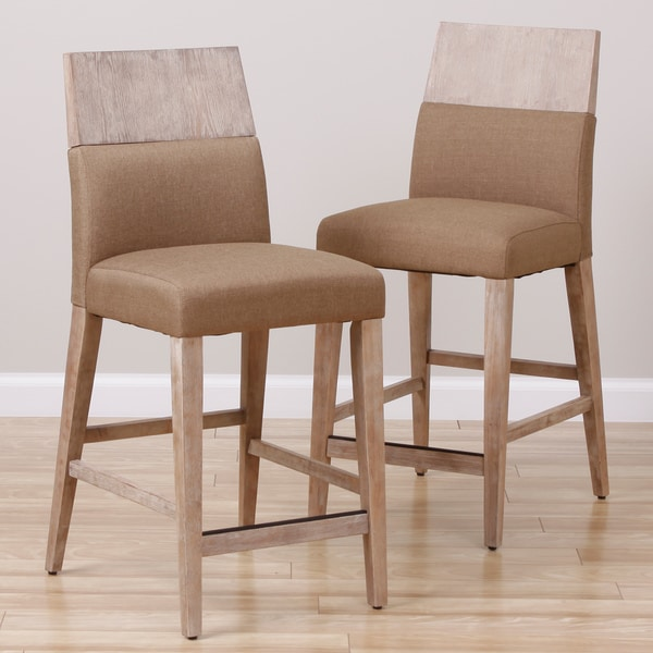 Rosalyn Driftwood Barstools Set Of 2 Free Shipping