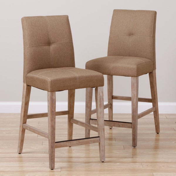 Driftwood Tan Bar Stools Set Of 2 Free Shipping Today