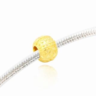 De Buman Gold-plated Sterling Silver Charm Bead