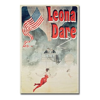 Jules Cheret 'Leona Dare 1890' Canvas Art