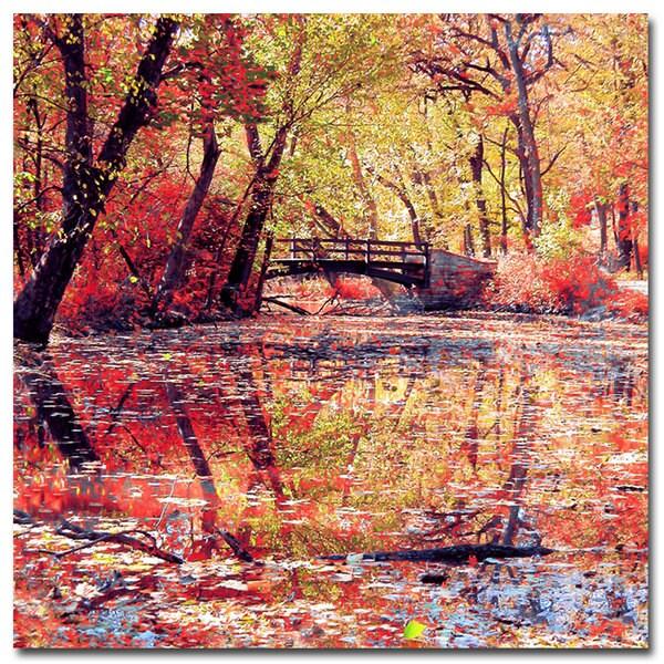 Beata Czyzowska Young 'Monet's Garden' Canvas Art