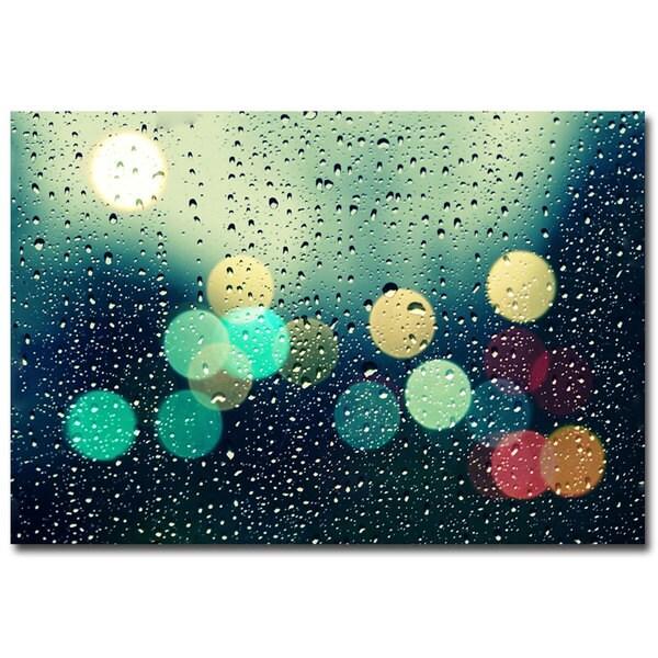 Beata Czyzowska Young 'Rainy City' Canvas Art
