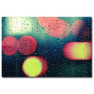 Beata Czyzowska Young 'Rain and the City' Canvas Art