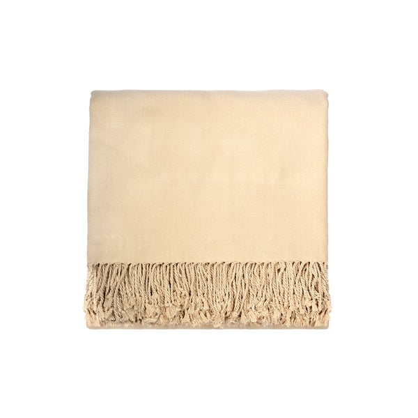 Solid Rayon from Bamboo 50 x 70 Cream Throw