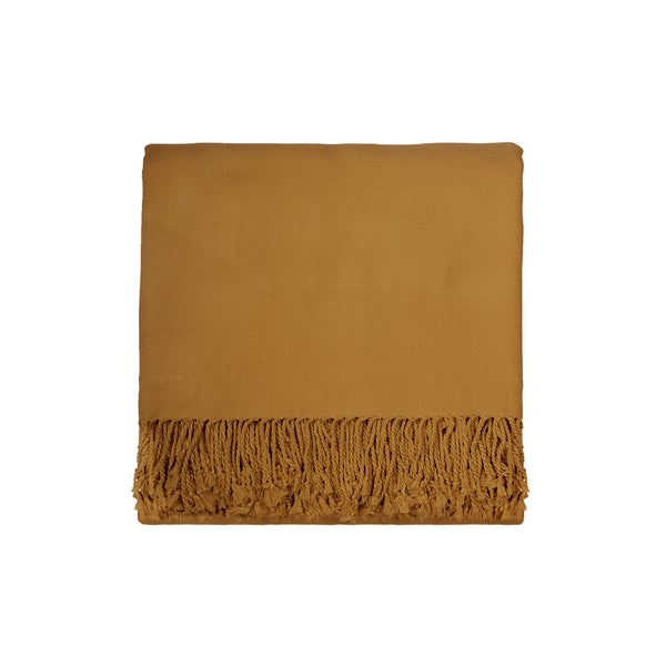 Solid Rayon from Bamboo 50 x 70 Mustard Throw