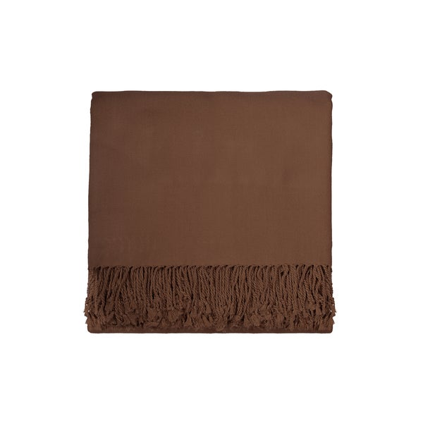 Solid Rayon from Bamboo 50 x 70 Taupe Throw