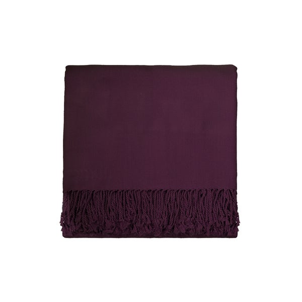 Solid Rayon from Bamboo 50 x 70 Plum Throw