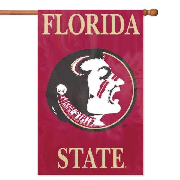 Party Animal Florida State Seminoles Applique Banner Flag