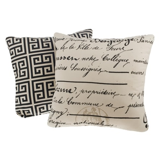 La Ville Reversible Square Decorative Pillows (Set of 2)
