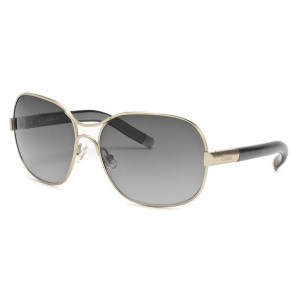 Chloe Women's Gold/ Gray Gradient Fashion Sunglasses