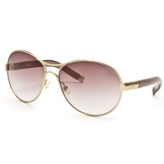 Chloe Women's Gold Aviator Sunglasses