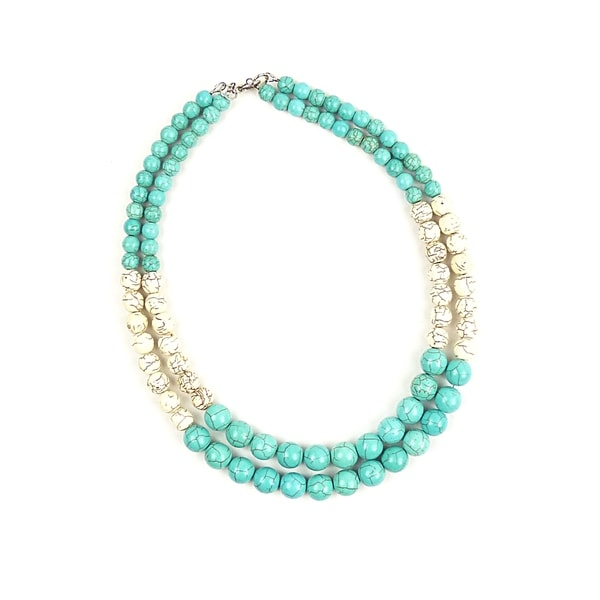 Pretty Little Style Turquoise Multi Strand Necklace
