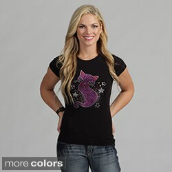 Women's Rhinestone 'Sassy Cat' Shirt