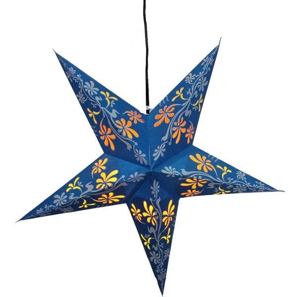 Serpent's Kiss Star Recycled Paper Lamp (India)