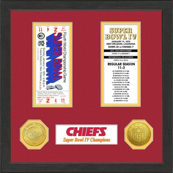 Kansas City Chiefs NFL SB Ticket/Game Coin Frame