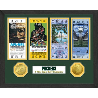 Green Bay Packers NFL SB Ticket/Game Coin Frame