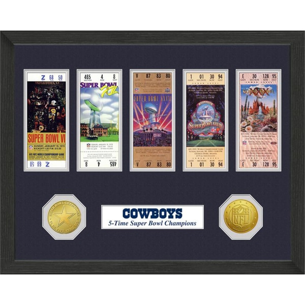 Dallas Cowboys NFL SB Ticket/Game Coin Frame. Opens flyout.