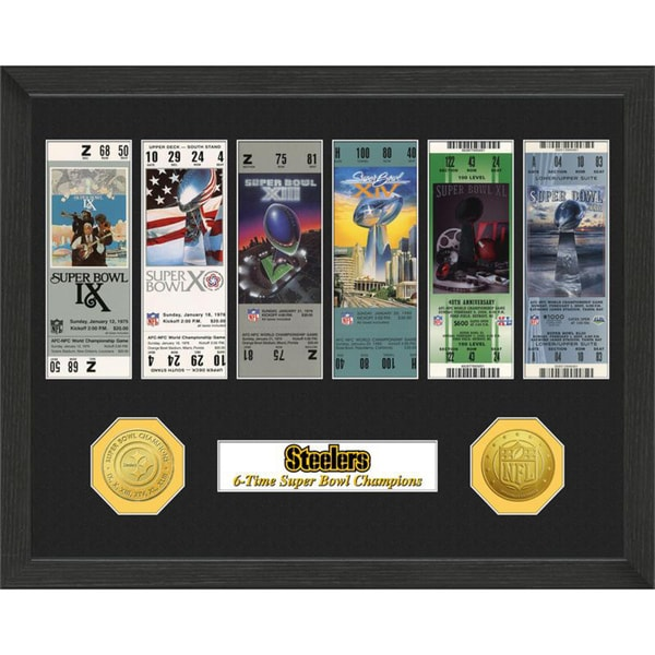 Pittsburgh Steelers NFL SB Ticket/Game Coin Frame