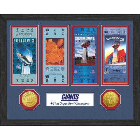 New York Giants NFL SB Ticket/Game Coin Frame