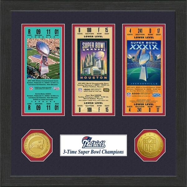 New England Patriots NFL SB Ticket/Game Coin Frame