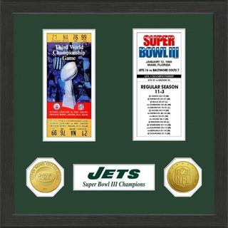 Shop New York Jets Nfl Sb Ticket Game Coin Frame Free