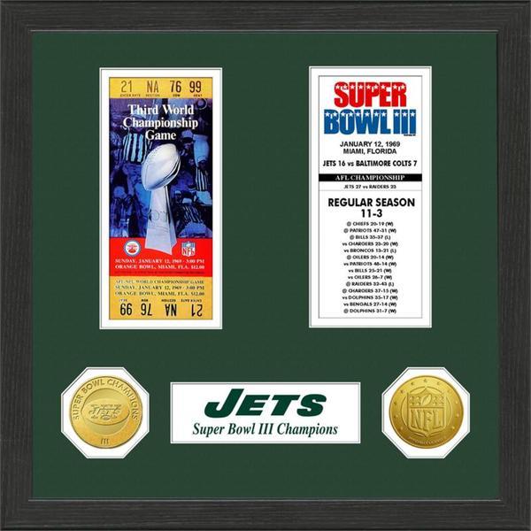 New York Jets NFL SB Ticket/Game Coin Frame