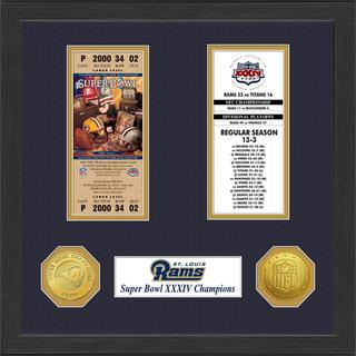 St.Louis Rams NFL SB Ticket/Game Coin Frame