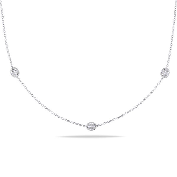 Miadora Sterling Silver 1/3ct TDW Diamond Necklace