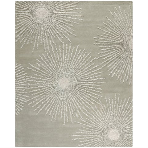 Safavieh Handmade Soho Burst Green/Grey New Zealand Wool Rug