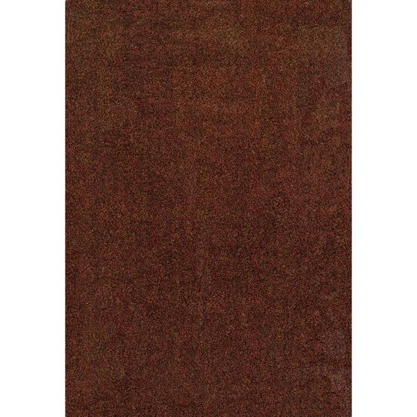 Indoor Rust/ Brown Shag Area Rug