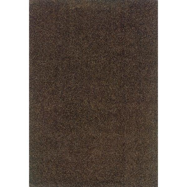 Indoor Grey/ Brown Shag Area Rug