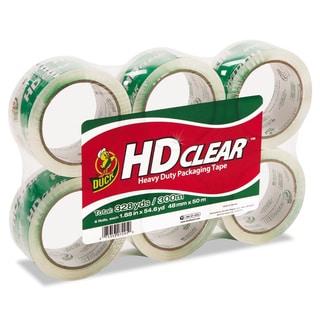 Clear Duck Heavy-Duty Carton Packaging Tape- 1.88 x 55