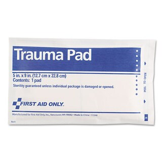 First Aid Only Trauma Pad, 5 x 9-inches