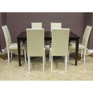 Warehouse of Tiffany Blazing White 7-piece Dining Table and Chairs Set