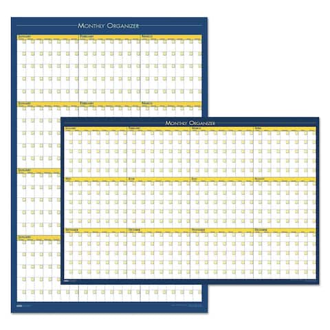 House Of Doolittle 12-Month 36 x 24 Laminated Planning Board