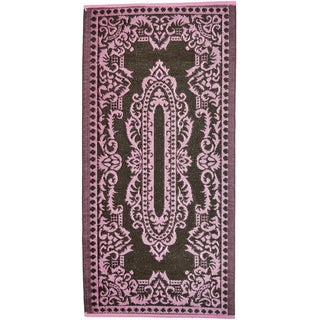 Indoor/Outdoor Rug Pink/Coffee (6' x 3') (India)
