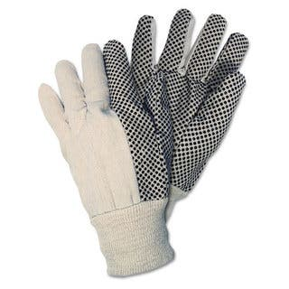 MCR Safety Dotted Canvas White Gloves