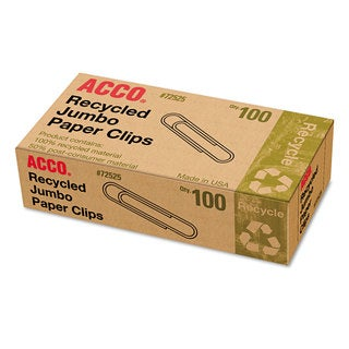 Acco Jumbo Recycled Paper Clips