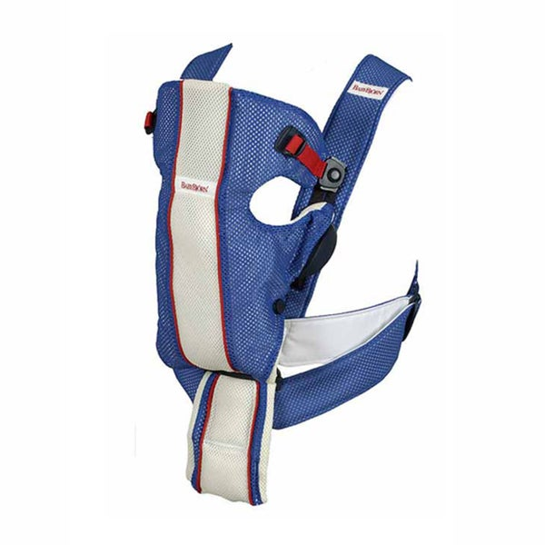 BabyBjorn Blue and White Air Carrier