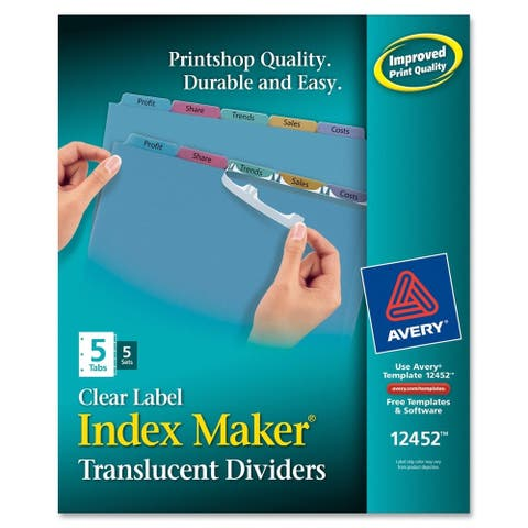 Avery Index Maker Divider Multicolor Five-Tab