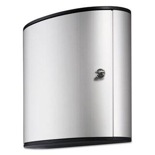 Durable Locking 54-key Brushed Aluminum Cabinet