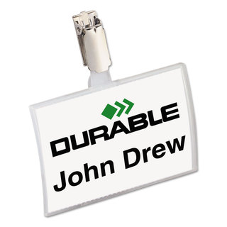 Durable Click-Fold Convex Name Badge Holder